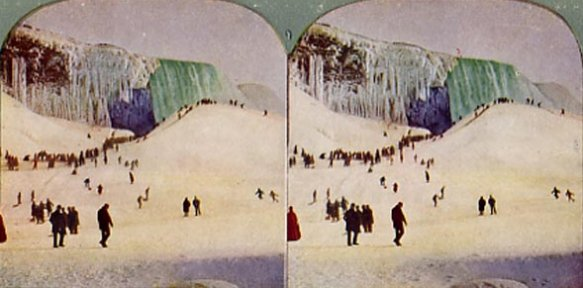 Ice Bridge and Mounds, Niagara Falls ~ 1903