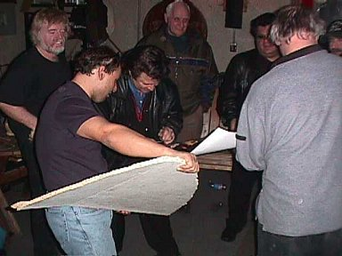 Bill, John, Bobby signing stage, Ray, Robert, Ken