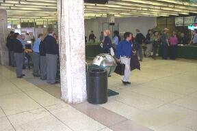 Clandestine photo of Winnipeg Airport security check