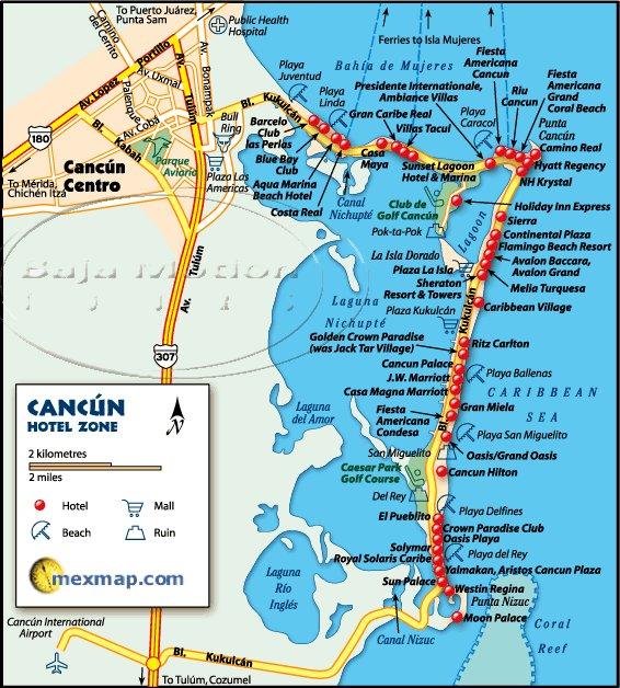 3 Cancun Strip