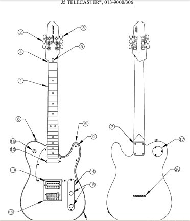 Fender Bass Guitar Wiring Schematic