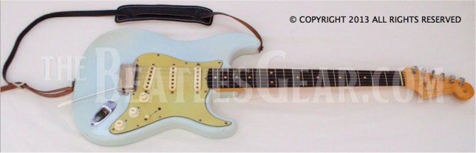 Lennon and Harrison Matching Blue Strats