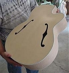Vice President jazz guitar - carved  solid spruce top/back - great flame on side