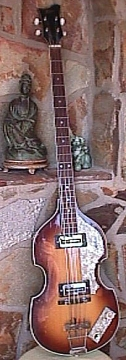 Hofner Beatle Bass decorates our Kensington Foyer