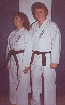 Wado Kai Black Belts: Sue-On and Bill Hillman