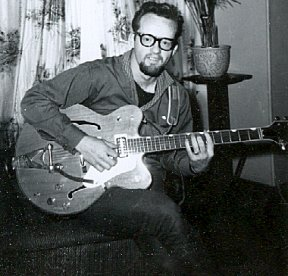 Bill and Gretsch Nashville at home ~ early '60s
