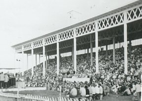 Typical fairgrounds grandstand