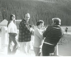Sue-On, Russ and Lynn and Jake Kroeger at Lake Louise