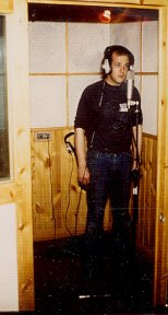 Mick in the haunted drum / vocal booth
