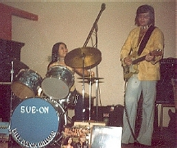 On stage in the late '70s with stripped Tele