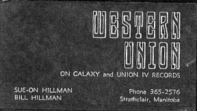 Bill and Sue-On's Western Union calling card