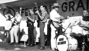 The Federal Grain Train on stage