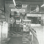 Bill in the Ernest Tubb Record shop before live broadcast