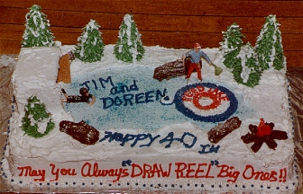 Curling Theme Anniversary Cake