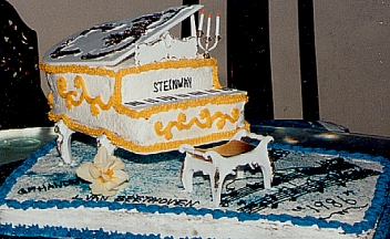 Steinway Piano Cake for Piano Recital