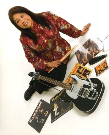 Sue-On with a rival J-5 Fender Telecaster