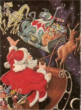 Science Fiction Christmas Art Hillman Nostalgia Christmas